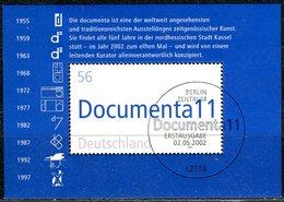 BRD - Mi Block 58 = 2257 - OO = Gestempelt (A) - 56C   Documenta 11 - [7] West-Duitsland