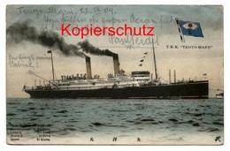 T.K.K. Tenyo - Maru 1909 - Von Honolulu, Hawaii Nach Breslau, Schlesien - Dampfer