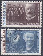 NORGE - 1993 - Serie Completa Di 2 Valori Usati: Yvert 1090/1091, Come Da Immagine. - Norwegen