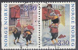 NORGE - 1992 - Due Valori Usati Uniti Fra Loro: Yvert 1070a (paio Orizzontale Di 1069 E 1070), Come Da Immagine. - Norwegen