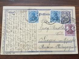 K5 Deutsches Reich Ganzsache Stationery Entier Postal P 146I Von Ravensburg Nach Singen - Interi Postali