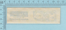 Timbre Canada EMA, Sticker Meter Stamp, 6¢, 1963, Domtar Product Is Canadian Entreprise  Pulp & Paper - 1952-.... Règne D'Elizabeth II