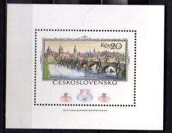 1978  Czechoslovakia - Praha 78 Stamps Exhibit. Praha - Karl's Bridge - MS/ Block - MNH** Mi B 36;  Wz - Brücken