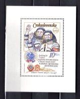 1979 Czechoslovakia - Interkosmos 1 Year Of CSSR Kosmonavt In Space V.Remek - MS/ Block - MNH** Mi B 39 I A;  Wz - Space