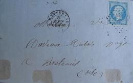 LOT 1746 - LETTRE (LAC) - NAPOLEON III N°14A - MONTEREAU (S Et M) 26 AOÛT 1858 > BRETEUIL (Oise) - 1853-1860 Napoleon III