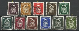LETTLAND Latvia 1940 Michel 281 - 291 Incl 281 Y O Some Signed! - Lettland