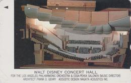 Télécarte Japon / 110-011 - WALT DISNEY CONCERT HALL 1 - Music Japan Phonecard - Disney