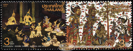 Thailand. 2016. Ramayana - Joint Issue With Indonesia (MNH OG **) Block Of 2 Stamps - Thailand