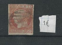 Spain 6 Centimos 1852 Used - Usati