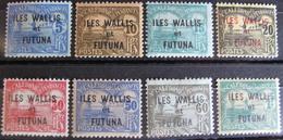 LOT R3586/1099 - 1920 - COLONIES FR. - WALLIS ET FUTUNA - TIMBRES TAXE N°1 à 8 NEUFS* - Cote : 17,00 € - Wallis-Et-Futuna
