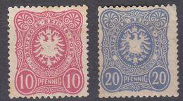 DEUTSCHE REICHS - 1879 - Due Valori: Yvert 38 E 39 Nuovi Senza Gomma, Come Da Immagine. - Allemagne