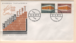GREECE 1969 Europa First Day Cover Mi. Nr. 1004-1005 - Greece