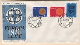 GREECE 1970 Europa First Day Cover Mi. Nr. 1040-1042 - Greece