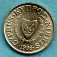 (r65)  CYPRUS / CHYPRE  1 Cent  1996  Km#53.3 - Cyprus