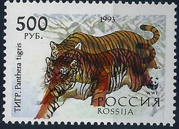 B1695 Russia Rossija Fauna Animal Predator Tiger MNH ERROR - Errors & Oddities