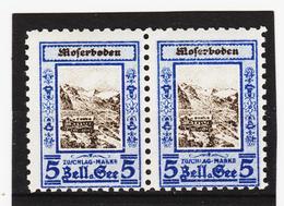 ORY382 ÖSTERREICH LOKALAUSGABEN 1926 Priv. Botenpost MOSERBODEN Gez.9 PAAR ** Postfrisch SIEHE ABBILDUNG - Ungebraucht
