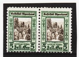 ORY381 ÖSTERREICH LOKALAUSGABEN 1926 Priv. Botenpost KESSELFALL ALPENHAUS  Gez.9 PAAR ** Postfrisch SIEHE ABBILDUNG - Ungebraucht