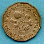 (r65)   NIGERIA  3 Pence 1959 - Nigeria