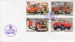 Enveloppe  FDC   1er   Jour   COREE  DU  NORD   Véhicules  De   SAPEURS - POMPIERS   1987 - Sapeurs-Pompiers