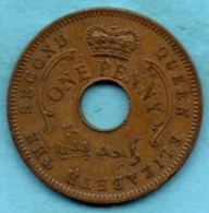 (r65)  NIGERIA  1 Penny 1959 - Nigeria