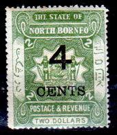 Borneo-del-Nord-068 - Emissione 1899 - Y&T N.95 (+) Hinged - Senza Difetti Occulti. - North Borneo (...-1963)