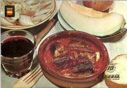 POSTAL LINEAS AEREAS IBERIA RECETAS DE COCINA ANGUILAS - Recetas De Cocina