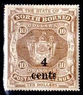 Borneo-del-Nord-073 - Emissione 1899 - Y&T N.109 (+) Hinged - Senza Difetti Occulti. - Bornéo Du Nord (...-1963)