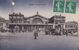 PARIS - La Gare De L'Est - Métro Parisien, Gares