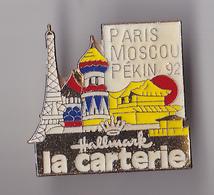 PIN'S THEME SPORT AUTOMOBILE  RALLYE PARIS  MOSCOU  1992 - Rallye