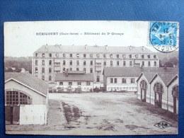 70 ,héricourt ,bâtiment Du 2 E Groupe En 1921  .. Circulée Timbrée .... - Francia