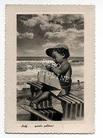 Bambino Che Legge Il Quotidiano Il Messaggero Auff...questa Politica Viaggiata 1949 # - Pubblicitari