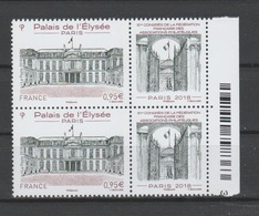 FRANCE / 2018 / Y&T N° 5221 ** : Palais De L'Elysée (avec Vignette FFAP) X 2 En Paire - Gomme D'origine Intacte - Neufs