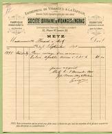 """METZ  1895 : """" SOCIETE LORRAINE De VIDANGES & ENGRAIS, Place Saint-Louis """" - France"""