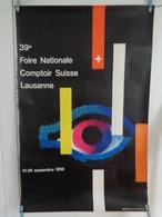 AFFICHE : 39e Foire National Comptoir Suisse , LAUSANNE ,13-28 Septembre 1958     , H 100 L 64,7 - Affiches