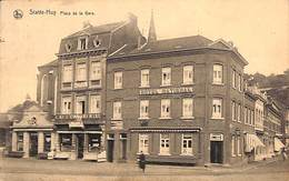 Statte - Huy - Place De La Gare (animée, Café, Hôtel, 1926) - Hoei
