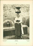 Kupfertiefdruck : Terracina - Wasserträgerin - Ruinenstadt Ninfa - Italien - Prints & Engravings