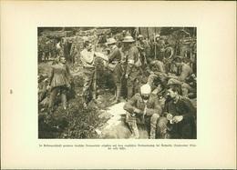 Kupfertiefdruck : Gefangene Verbandsplatz Authuille - Aveluy-Albert - 1. Weltkrieg - Stiche & Gravuren