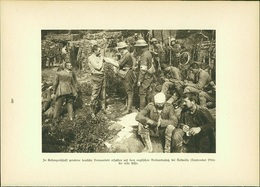 Kupfertiefdruck : Gefangene Verbandsplatz Authuille - Aveluy-Albert - 1. Weltkrieg - Prints & Engravings