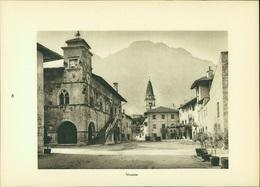 Kupfertiefdruck : Venzone - Castello Verrucola - Fivizzano - Prenten & Gravure