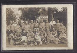 CPA PHOTO 80 - SALOUEL - SUPERBE PLAN En CP Photographique Groupe Militaires Poilus En Réserve Avec Femmes Et Enfants - Autres Communes