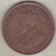 Jersey , 1/24 Shilling 1913. George V , Bronze , KM# 11 - Jersey