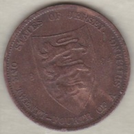 Jersey , 1/24 Shilling 1894. Victoria , Bronze , KM# KM# 7 - Jersey