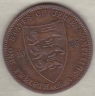 Jersey , 1/12 Shilling 1923. George V , Bronze , KM# 12 - Jersey
