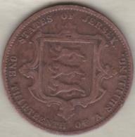 Jersey , 1/13 Shilling 1870. Victoria , Bronze , KM# KM# 5 - Jersey