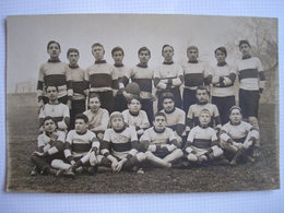THEME RUGBY - CPA - SUPERBE Carte Photo D'une équipe à Déterminer - Rugby