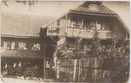 CARTE PHOTO   TRAENHEIM 67  Famille Et Maison De M.le Maire  Avril 1919 - France