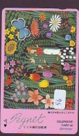 Télécarte Japon *  PEINTURE FRANCE * RAYMOND PEYNET (56) Japan Painting Phonecard - Pittura