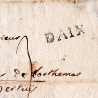 Lettre 1755 Aix En Provence Pour Perthuis États De Provence Bouchês Du Rhône - Marcophilie (Lettres)
