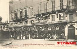 CPA 33 : BORDEAUX - RESTAURANT BRASSERIE DU COQ D'OR - édition GUILLIER - Bordeaux