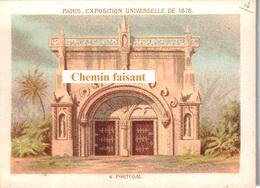 Chromo EXPOSITION UNIVERSELLE DE 1878 - Pavillon Du PORTUGAL  -  Scans Recto-verso - Other